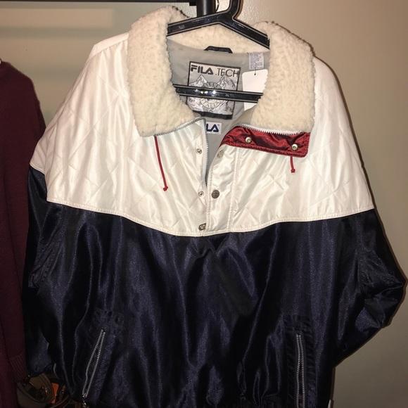Fila Tech Men's Biella Italia Half Zip Winter Coat